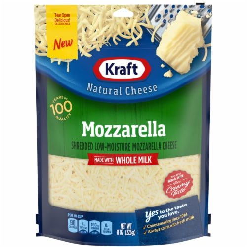 Kraft Natural Shredded Mozzarella Cheese Perspective: front