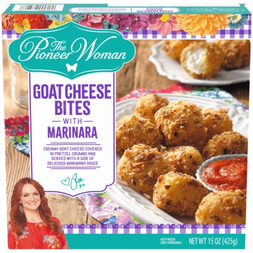 The Pioneer Woman Goat Cheese Bites with Marinara Frozen Snacks Perspective: front