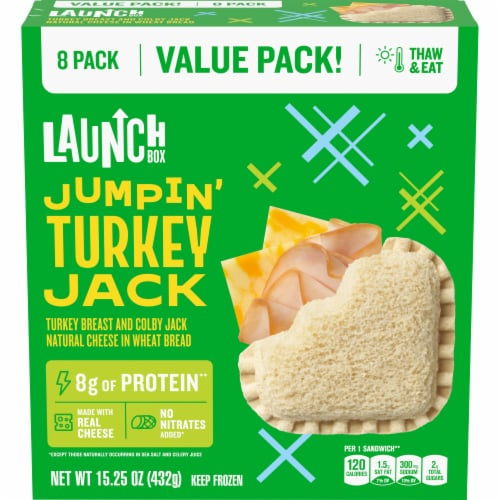 LaunchBox Jumpin' Turkey Jack Sandwiches Perspective: front