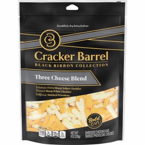 Cracker Barrel Three Cheese Blend Shredded Cheese Perspective: front