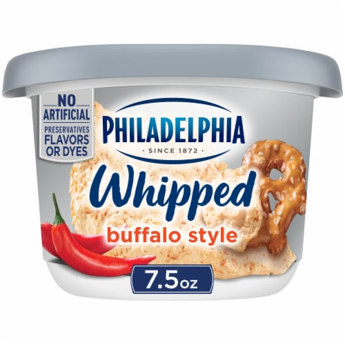 Philadelphia Whipped Buffalo Cream Cheese Spread Perspective: front