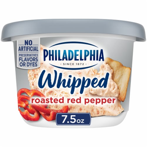 Philadelphia Roasted Red Pepper Whipped Cream Cheese Spread Perspective: front