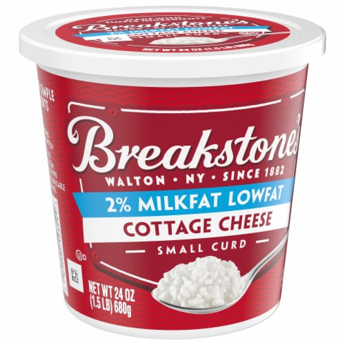 Breakstone's Small Curd 2% Milkfat Low Fat Cottage Cheese Perspective: front