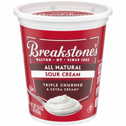 Breakstone's All Natural Sour Cream Perspective: front