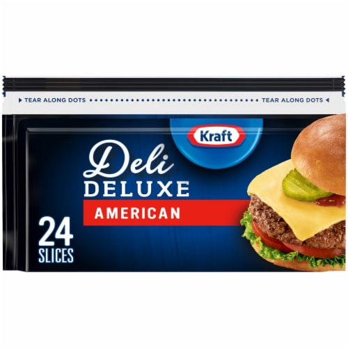 Kraft Deli Deluxe American Cheese Slices Perspective: front