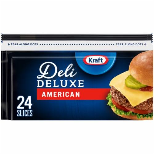 Kraft Deli Deluxe American Cheese Slices Perspective: front