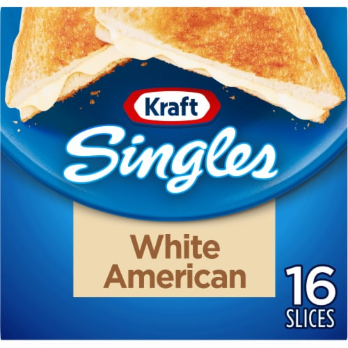 Kraft Singles White American Cheese Slices Perspective: front