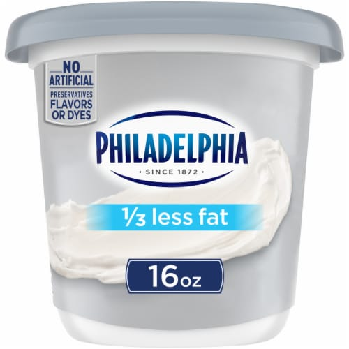 Kraft Philadelphia 1/3 Less Fat Cream Cheese Perspective: front
