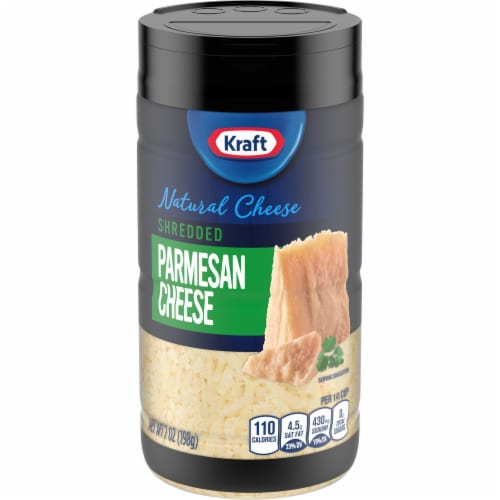 Kraft Shredded Parmesan Cheese Perspective: front