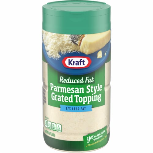 Kraft Reduced Fat Parmesan Style Grated Topping Shaker Perspective: front