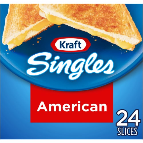 Kraft Singles American Cheese Slices Perspective: front