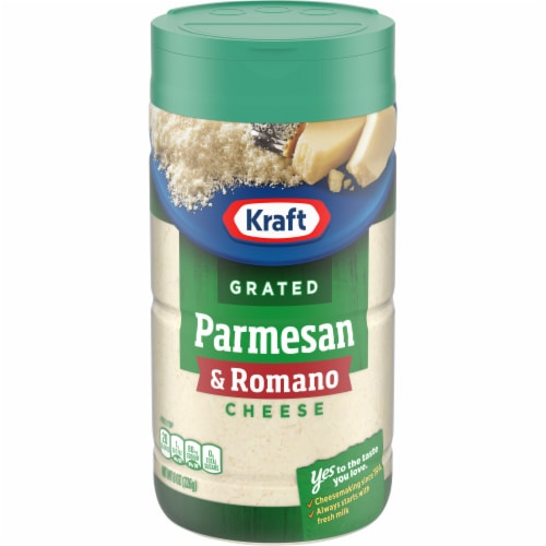 Kraft 100% Grated Parmesan and Romano Cheese Perspective: front