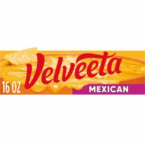 Velveeta Mexican Mild Cheese Perspective: front