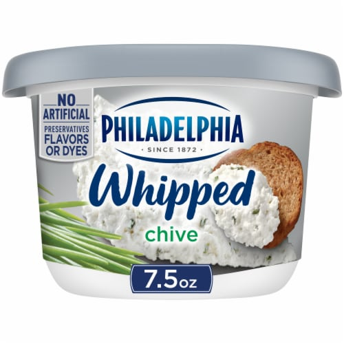 Philadelphia Whipped Chive Cream Cheese Spread Perspective: front