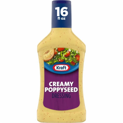 Kraft Creamy Poppyseed Dressing Perspective: front