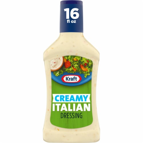 Kraft Creamy Italian Dressing Perspective: front