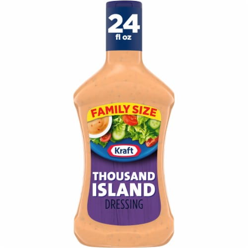 Kraft Thousand Island Dressing Family Size Perspective: front