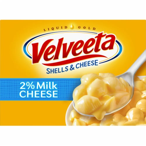Velveeta Shells & Cheese Made with 2% Milk Shell Pasta & Creamy Cheese Sauce Perspective: front