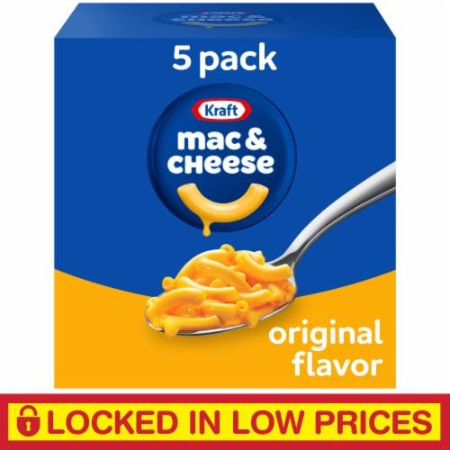 Kraft Original Flavor Macaroni & Cheese Dinner Multipack Perspective: front