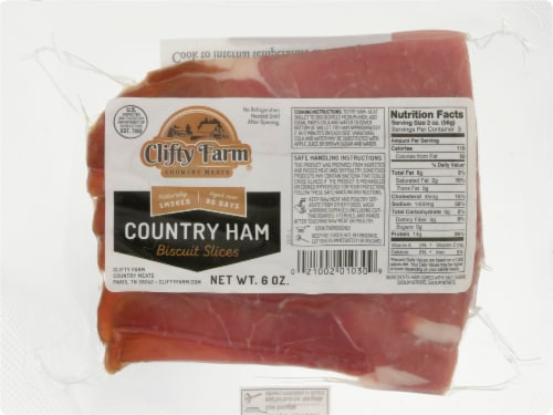 Clifty Farm Country Ham Biscuit Slices Perspective: front
