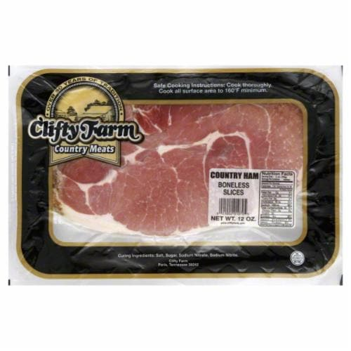 Clifty Farm Country Ham Boneless Slices Perspective: front