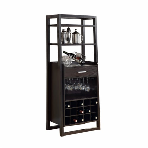 Cappuccino 60 H Ladder Style Bar Unit Perspective: front