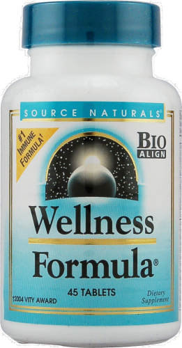 Source Naturals Wellness Formula Immune Support Tablets Perspective: front