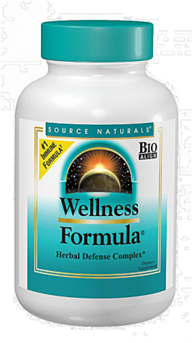 Source Naturals Wellness Formula Herbal Defense Complex Tablets Perspective: front
