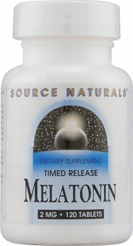 Source Naturals  Melatonin Timed Release Perspective: front