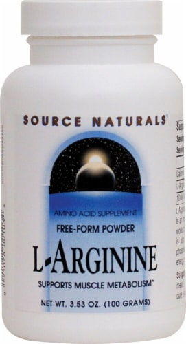 Source Naturals Free Form L-Arginine Powder Perspective: front