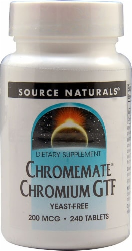 Source Naturals  Chromemate® Chromium GTF Yeast Free Perspective: front