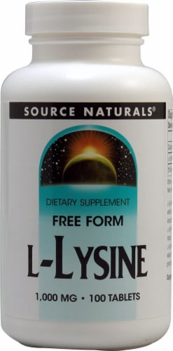 Source Naturals  Free Form L-Lysine Perspective: front