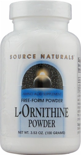 Source Naturals  Free Form L-Ornithine Powder Perspective: front
