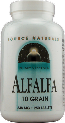 Source Naturals Alfalfa 10 Grain Tablets 648 mg Perspective: front