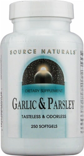 Source Naturals  Garlic and Parsley Perspective: front