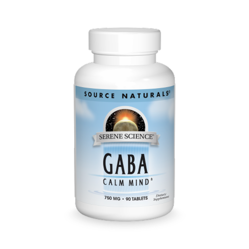 Source Naturals GABA 750 mg Tablets Perspective: front