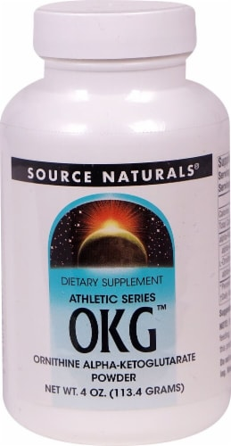 Source Naturals  Athletic Series OKG™ Ornithine Alpha-Ketoglutarate Powder Perspective: front