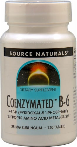 Source Naturals Coenzymated B-6 Tablets 25mg 120 Count Perspective: front
