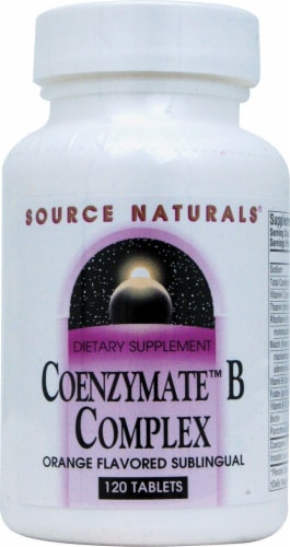 Source Naturals Coenzymate B Complex Sublingual Orange Flavored Tablets Perspective: front