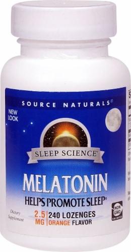 Source Naturals  Melatonin Lozenges   Orange Perspective: front