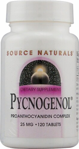 Source Naturals Pycnogenol Tablets 25mg Perspective: front