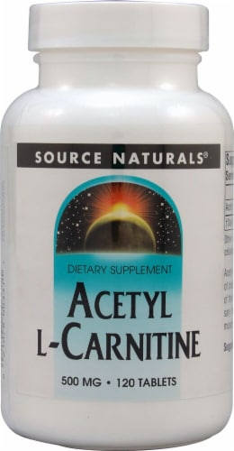 Source Naturals Acetyl L-Carnitine Tablets 500mg Perspective: front