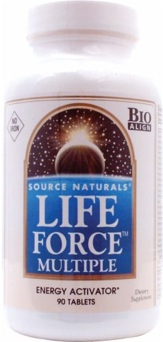 Source Naturals Life Force Multiple No Iron Tablets Perspective: front