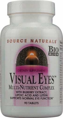 Source Naturals Visual Eyes™ Multi-Nutrient Complex Tablets 90 Count Perspective: front