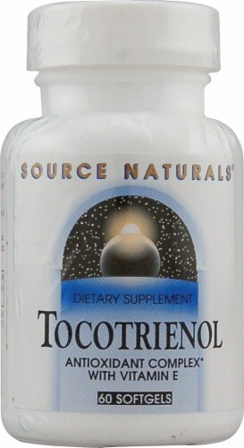 Source Naturals Tocotrienol Antioxidant Complex with Vitamin E Softgels Perspective: front