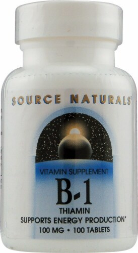 Source Naturals B-1 Thiamin Tablets 100mg Perspective: front