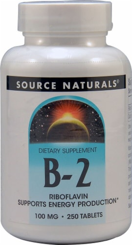 Source Naturals B-2 Riboflavin Tablets 100mg Perspective: front