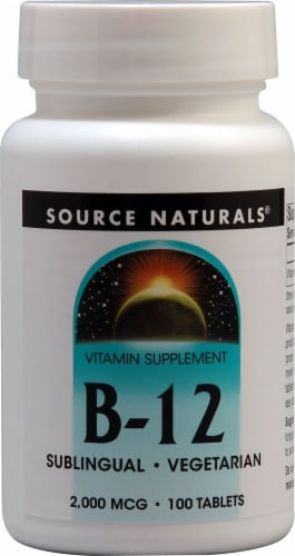 Source Naturals B-12 Biolingual Tablets 2000mcg Perspective: front