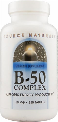 Source Naturals B-50 Complex Tablets 50mg Perspective: front