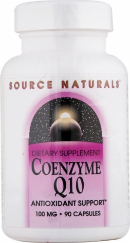 Source Naturals Coenzyme Q10 Capsules 100mg Perspective: front